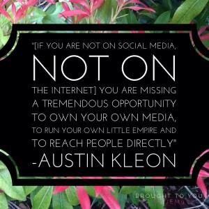 Quote from Austin Kleon
