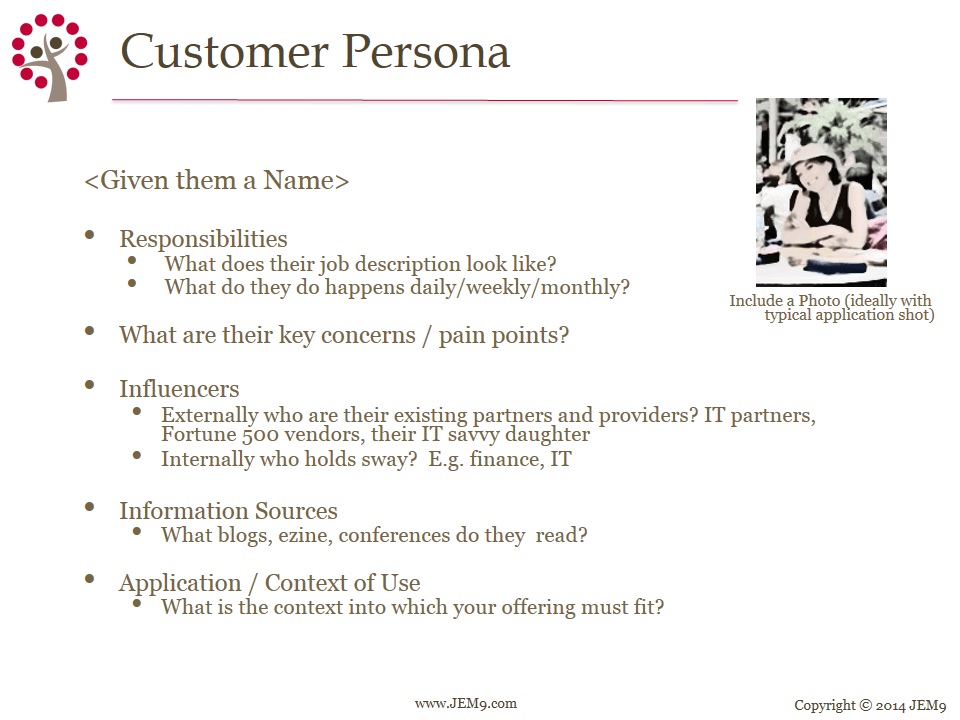 Criteria for First Follower Customer Personas