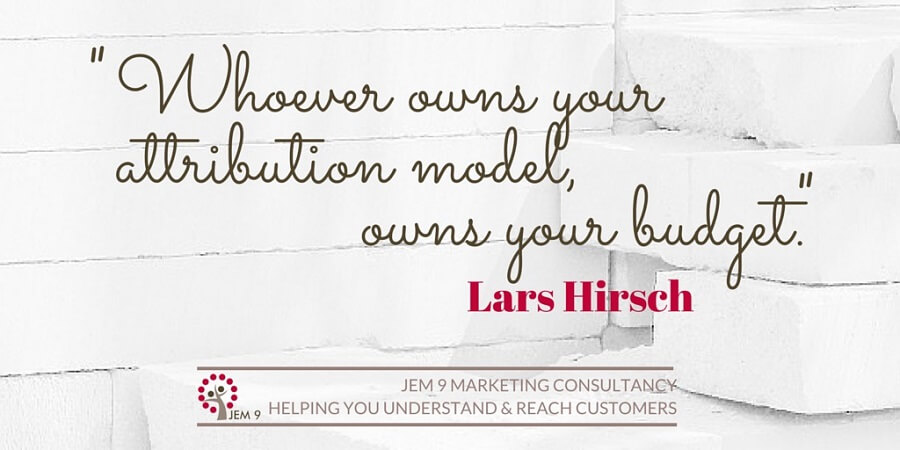 "Attribution Model: ""Whoever Owns Your Attribution Model, Owns Your Budget."" Lars Hirsch 