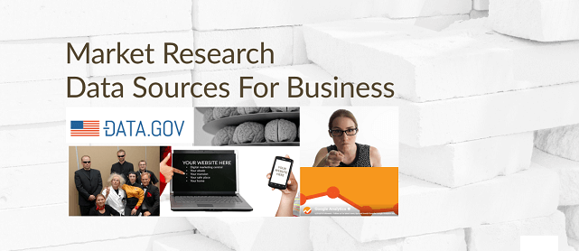 Market research data sources for business