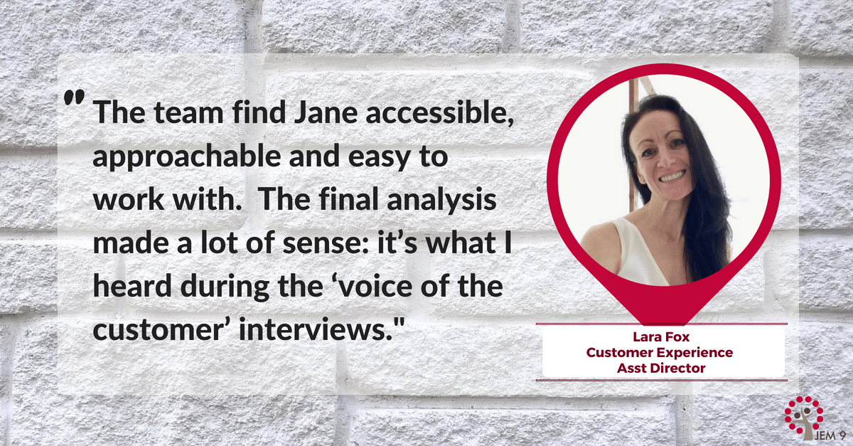 JEM 9 B2B Technology Marketing Customer Persona Development Case Study - Lara Fox